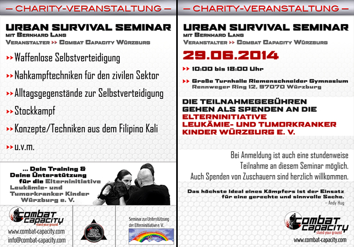 Selbstverteidigung Würzburg Charity Veranstaltung Kampfsport Fitness